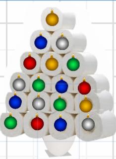 Toilet Paper Christmas Tree-Hand Sanitizer Keychain