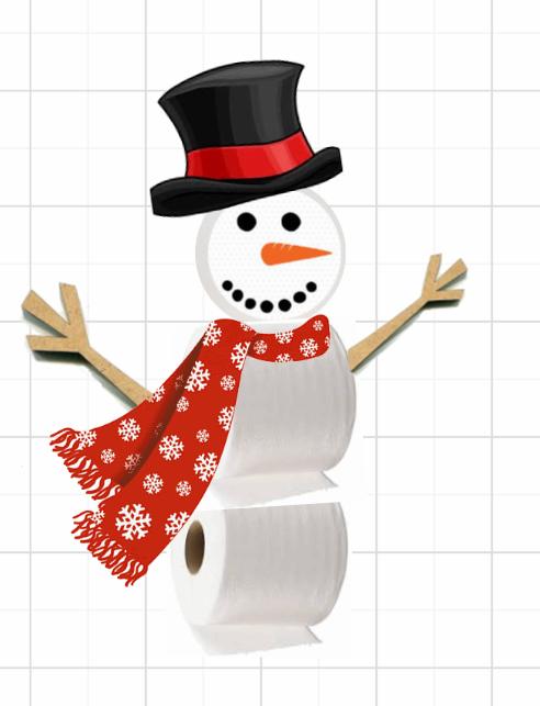 Toilet Paper Snowman-Hand Sanitizer Keychain