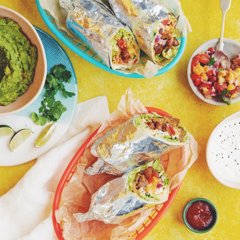 Vegan Breakfast Burrito Kit - Food Only - For 4