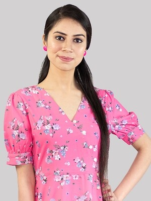 ZYIO Pink A Flare Dress