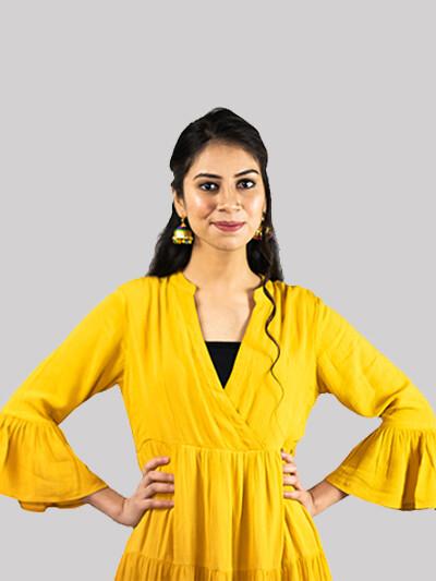 ZYIO Yellow Flare Dress