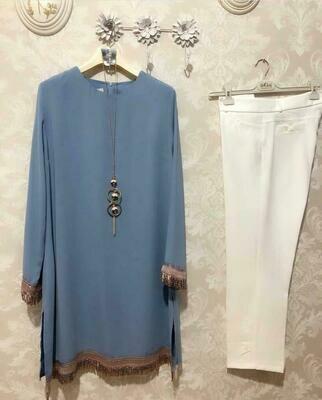 ZYIO Classic Combo Plazo Dress
