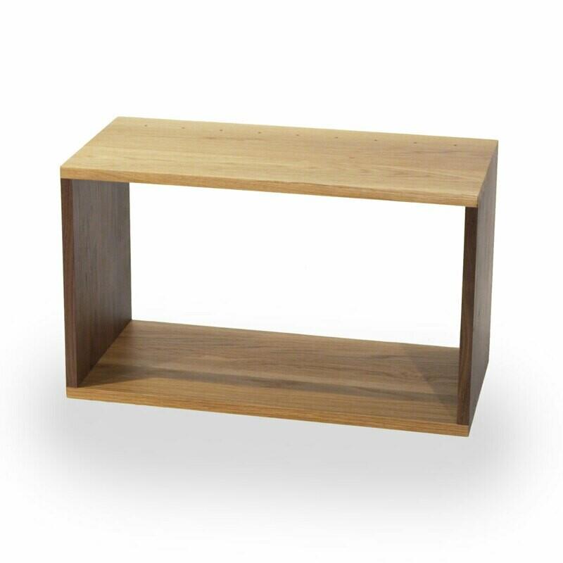 Solid Oak and Walnut box 625 x 375 x 300