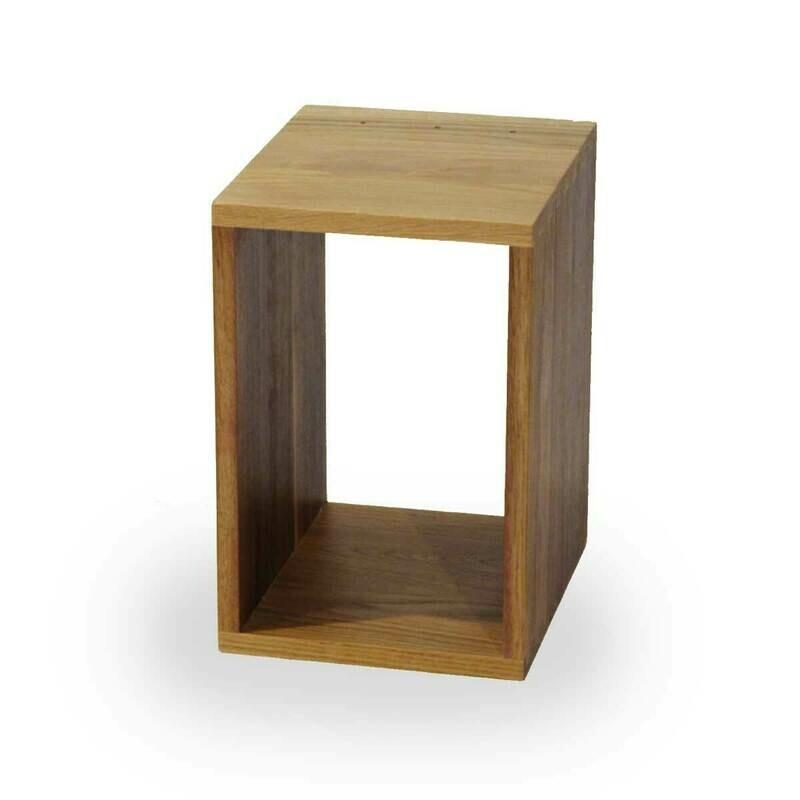 Solid Oak and Walnut box 250 x 375 x 300