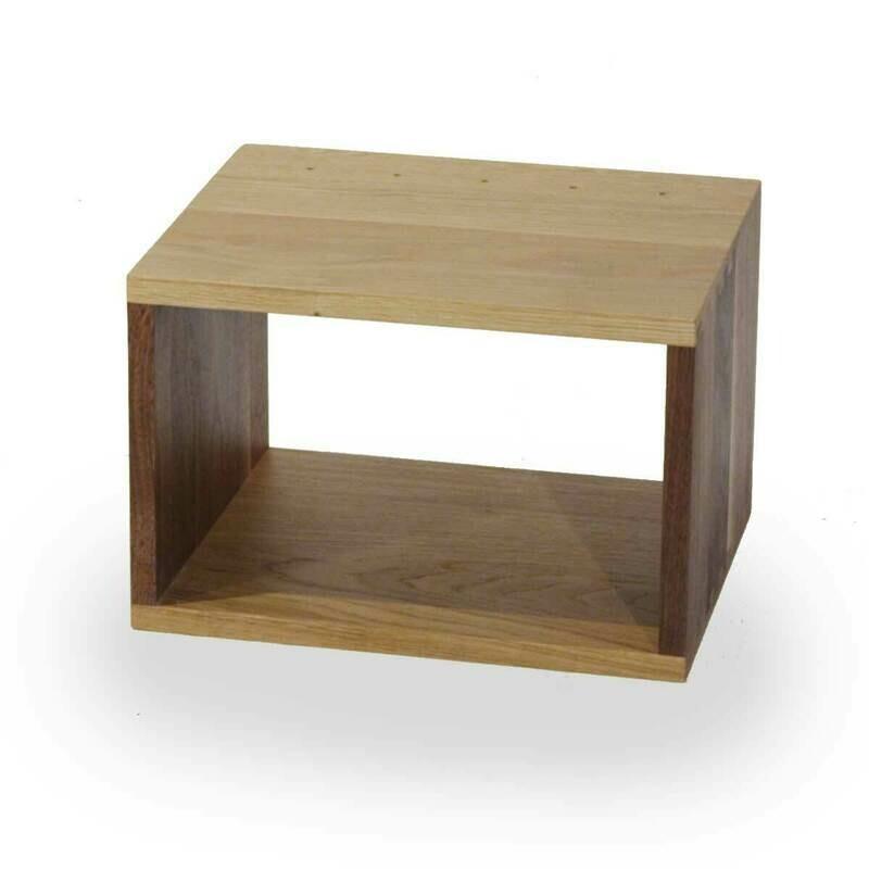 Solid Oak and Walnut box 375 x 250 x 300