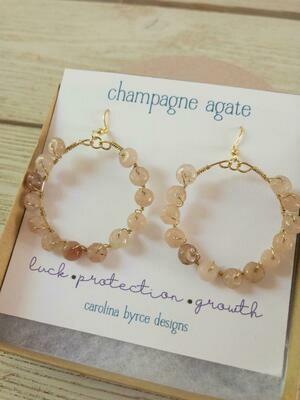 Wire Wrapped Earrings Carolina Bryce Designs