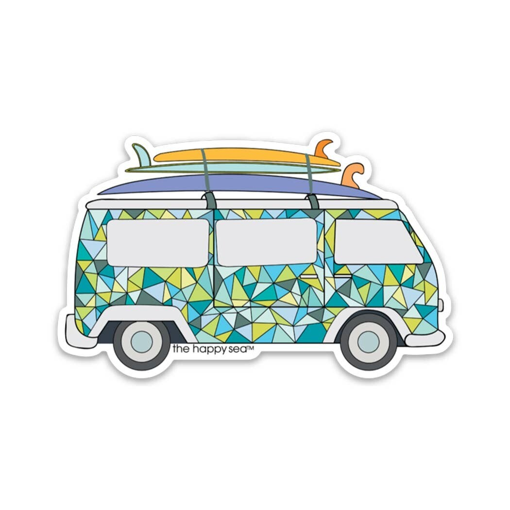 """3"""" Happy Sea Stickers"""