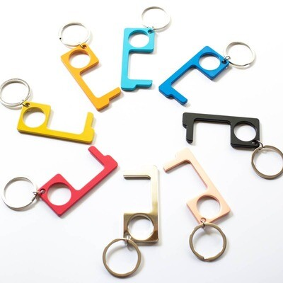 No Touch Button Keychains