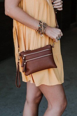 Sandstone Crossbody Bag - Mocha