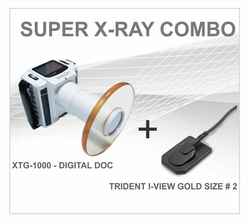 Super Combo XTG Portable X-Ray + I-View Gold IO Sensor Size # 2
