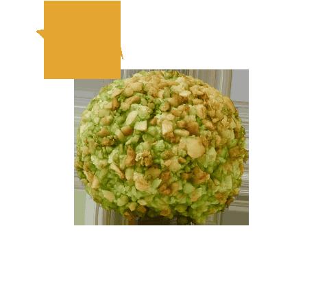 PÂTE D'AMANDE  enveloppée de graine de pistache