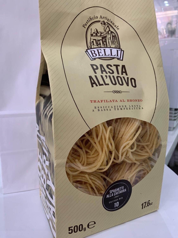 """Pâtes Fraiches Spaghetti """"alla Chitarra""""AUX OEUFS DE QUALITÉ SUPÉRIEURE"""