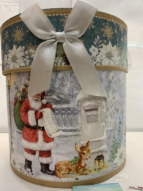 Boîte de Noël amaretti et truffe hachée noir pure