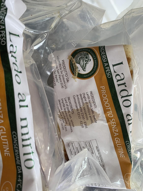 Lardo sans gluten et lattosio