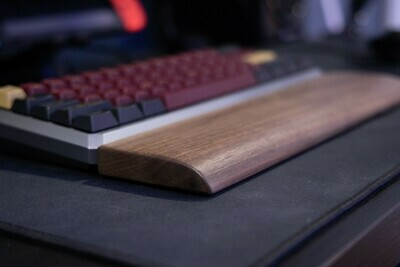 Handmade walnut wooden wrist rest