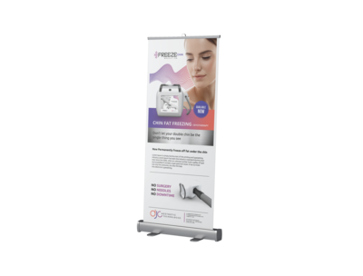 Freeze Sculpting Chin - Roller Banner