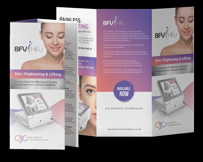 100 x BFV HiFu (Body and Face) Treatment Leaflets