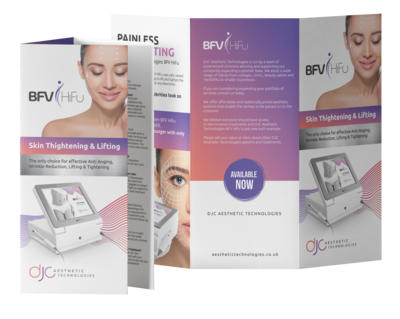 100 x BFV HiFu (Body and Face) Treatment Leaflets