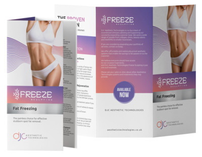 100 x Freeze Sculpting - Treatment Leaflets