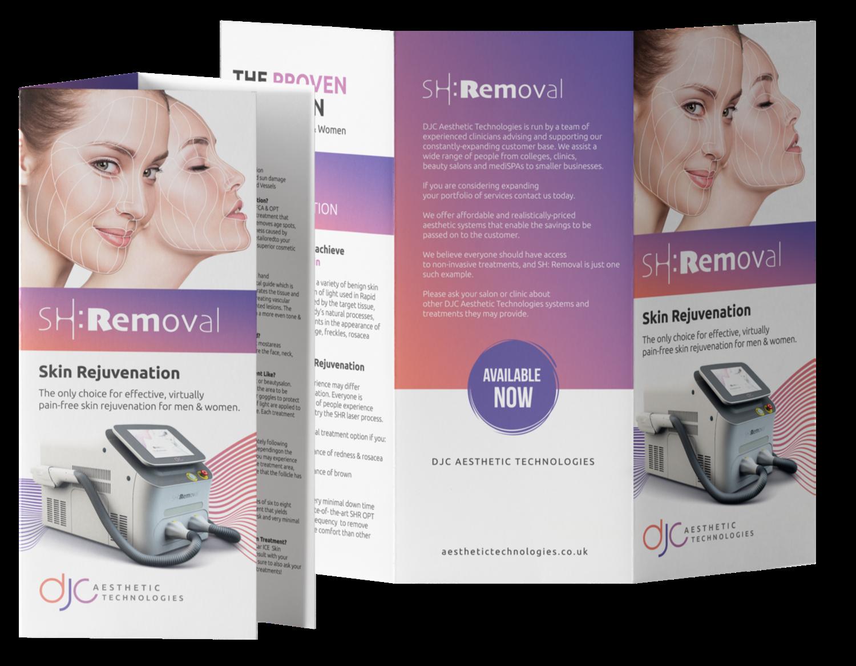 100 x SH:Removal Skin Rejuvenation Treatment Leaflets