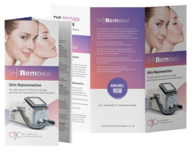 100 x SH:Removal Skin Rejuvenation Treatment Leaflets