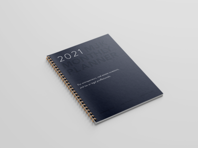 2021 MJK Monthly Planner