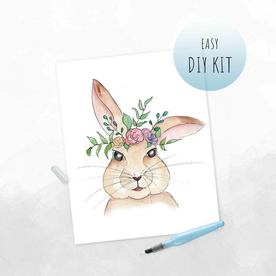 DIY Watercolor Kit- Boho Bunny