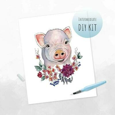 DIY Watercolor Kit- Boho Piglet