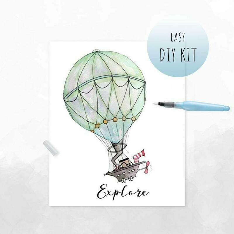 DIY Watercolor Kit- Hot Air Balloon