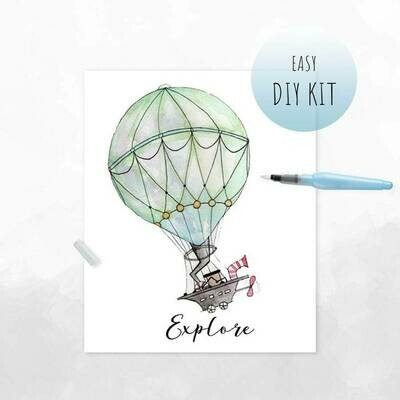 DIY Watercolor Kit- Hot Air Balloon