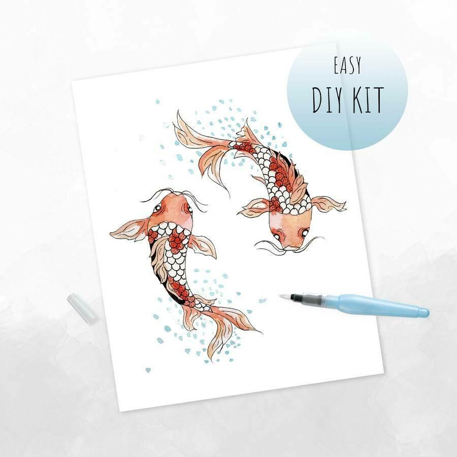 DIY Watercolor Kit- Koi Fish