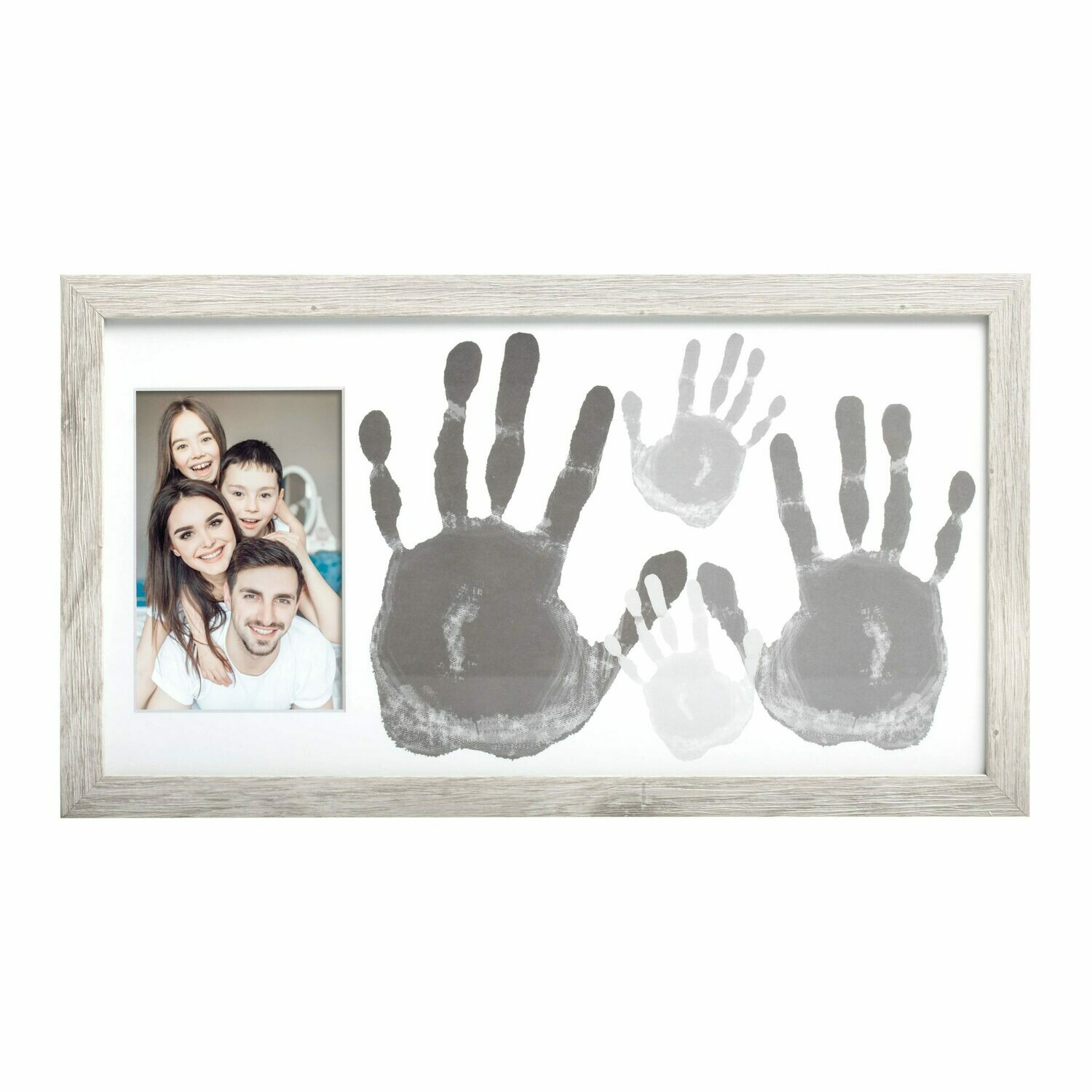 Family Handprint Rustic Photo Frame and Paint Kit