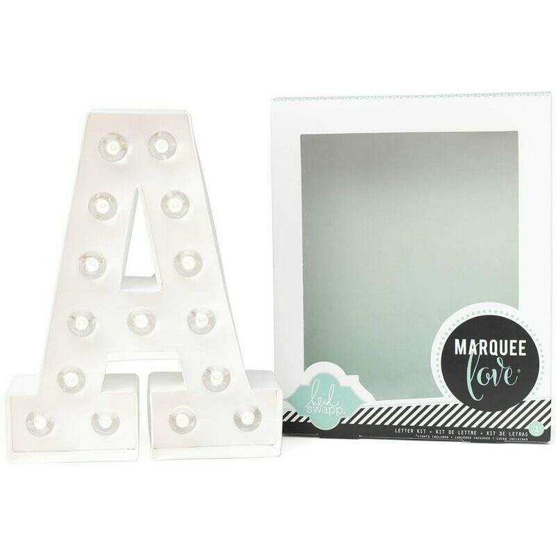 Heidi Swapp™ DIY Marquee Letter Kit - A - White - 8 inches