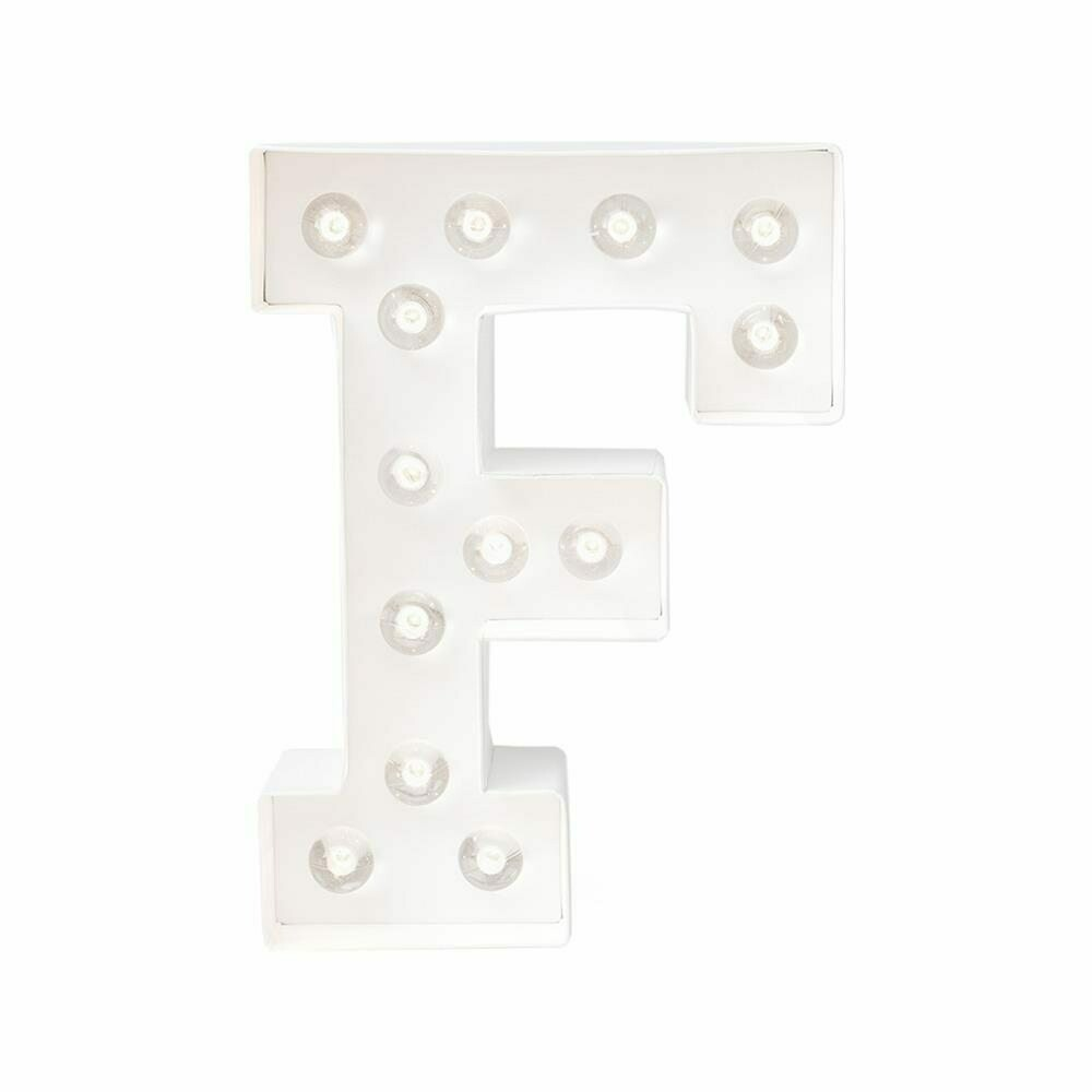Heidi Swapp™ DIY Marquee Letter Kit - F - White - 8 inches