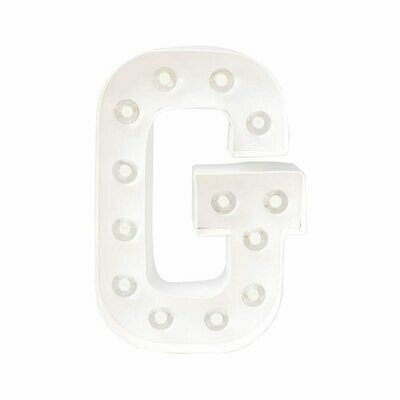 Heidi Swapp™ DIY Marquee Letter Kit - G - White - 8 inches