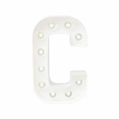 Heidi Swapp™ DIY Marquee Letter Kit - C - White - 8 inches