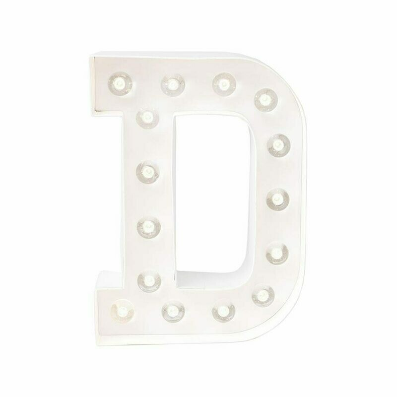 Heidi Swapp™ DIY Marquee Letter Kit - D - White - 8 inches