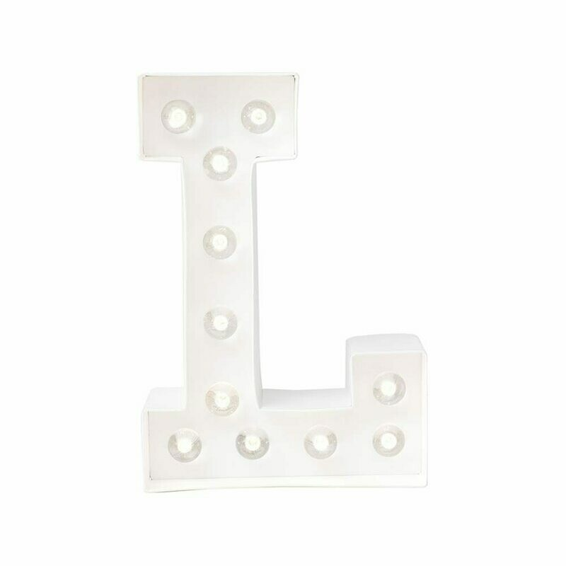 Heidi Swapp™ DIY Marquee Letter Kit - L- White - 8 inches