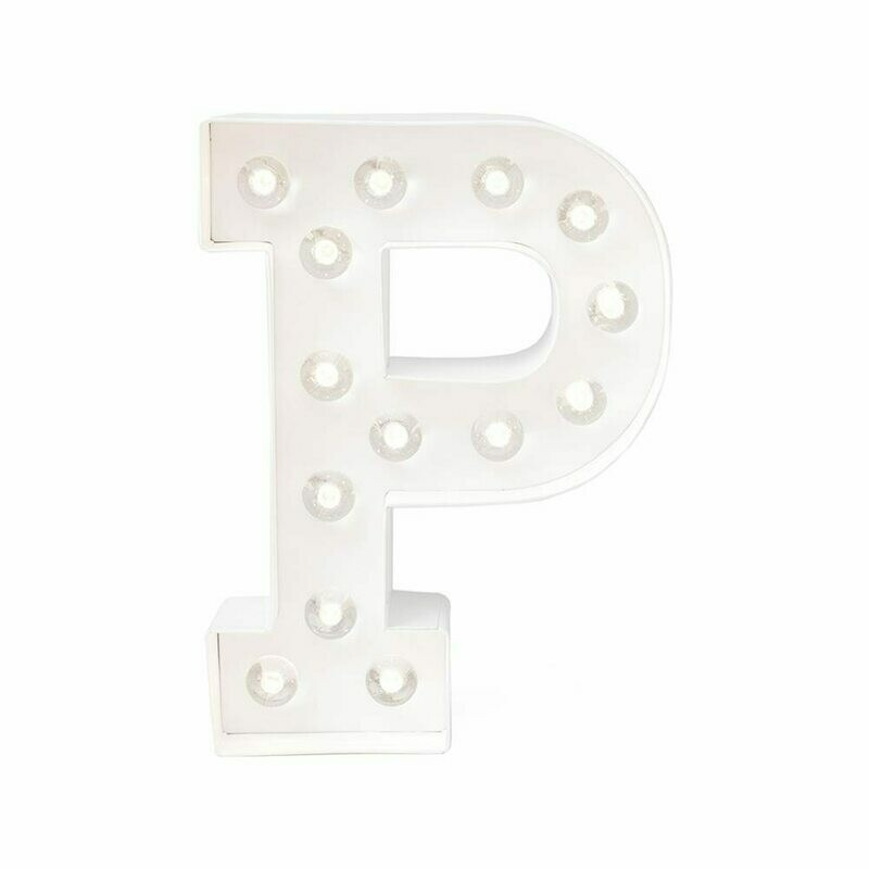 Heidi Swapp™ DIY Marquee Letter Kit - P - White - 8 inches