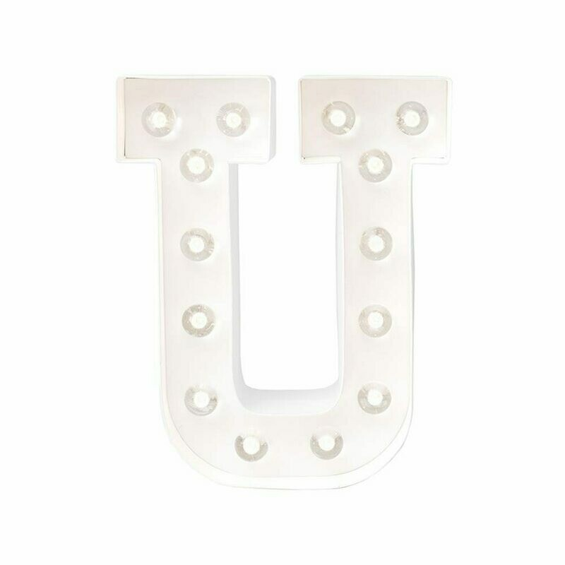 Heidi Swapp™ DIY Marquee Letter Kit - U - White - 8 inches