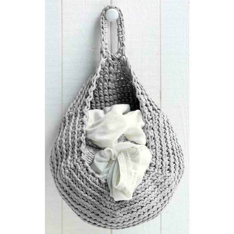 Hoooked Zpagetti Yarn Kit Storage Bag- Gray