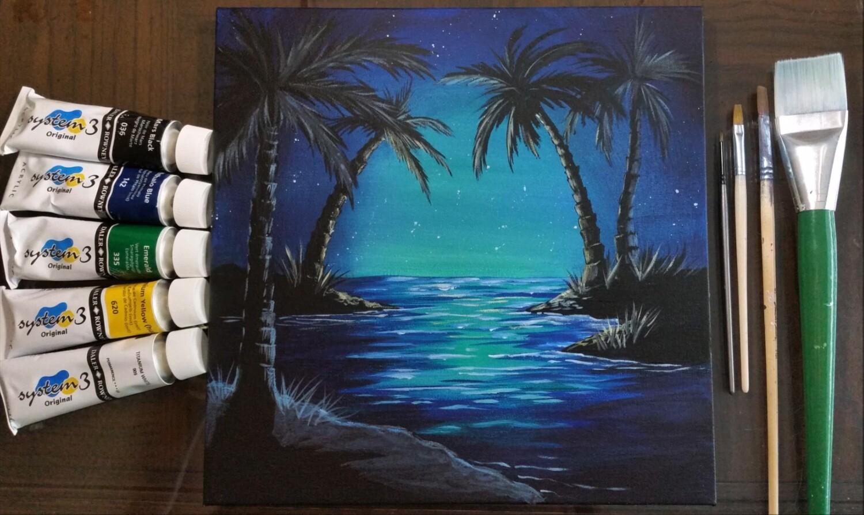 Lagoon at Night - Painting Kit