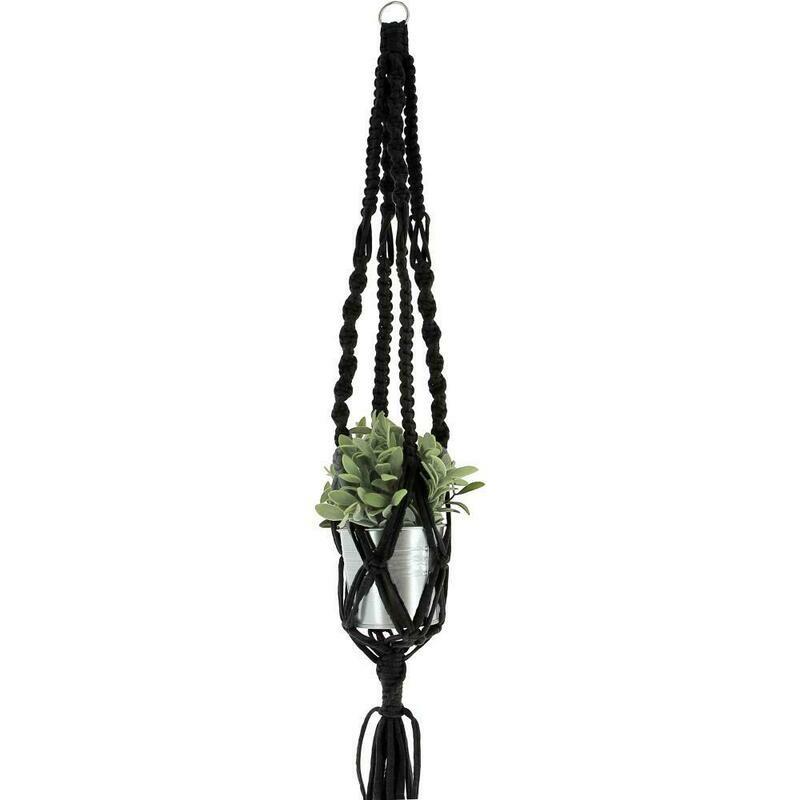 Hoooked Hanging Basket Zpagetti Macrame Kit- Black