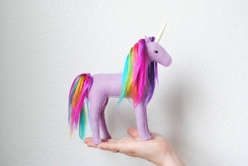 Lavender Rainbow Unicorn Sewing Craft Kit (ages 9+)