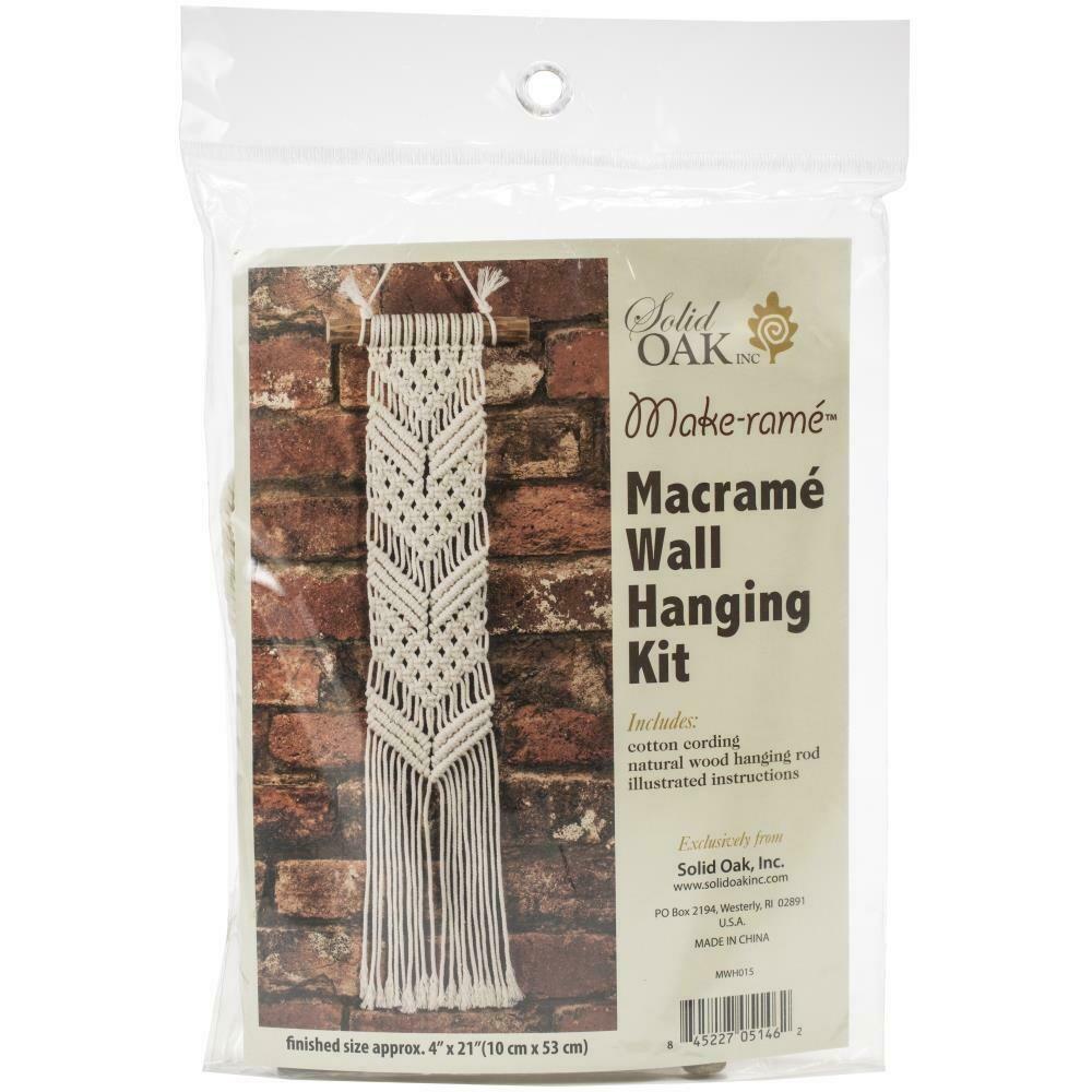 Solid Oak Macrame Wall Hanging Kit- Chevrons