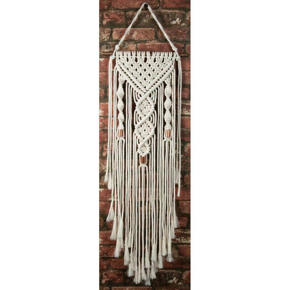 Solid Oak Macrame Wall Hanging Kit- Two Twists