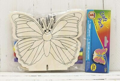 Wood Kit with Markers - Butterfly - 6-1/2 inches
