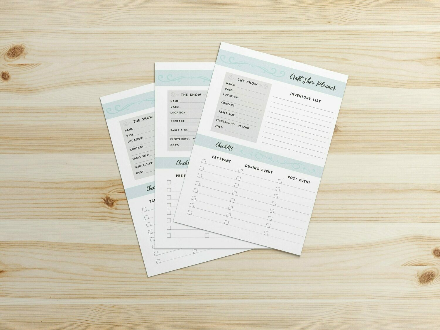 Craft Show/Craft Fair Planner