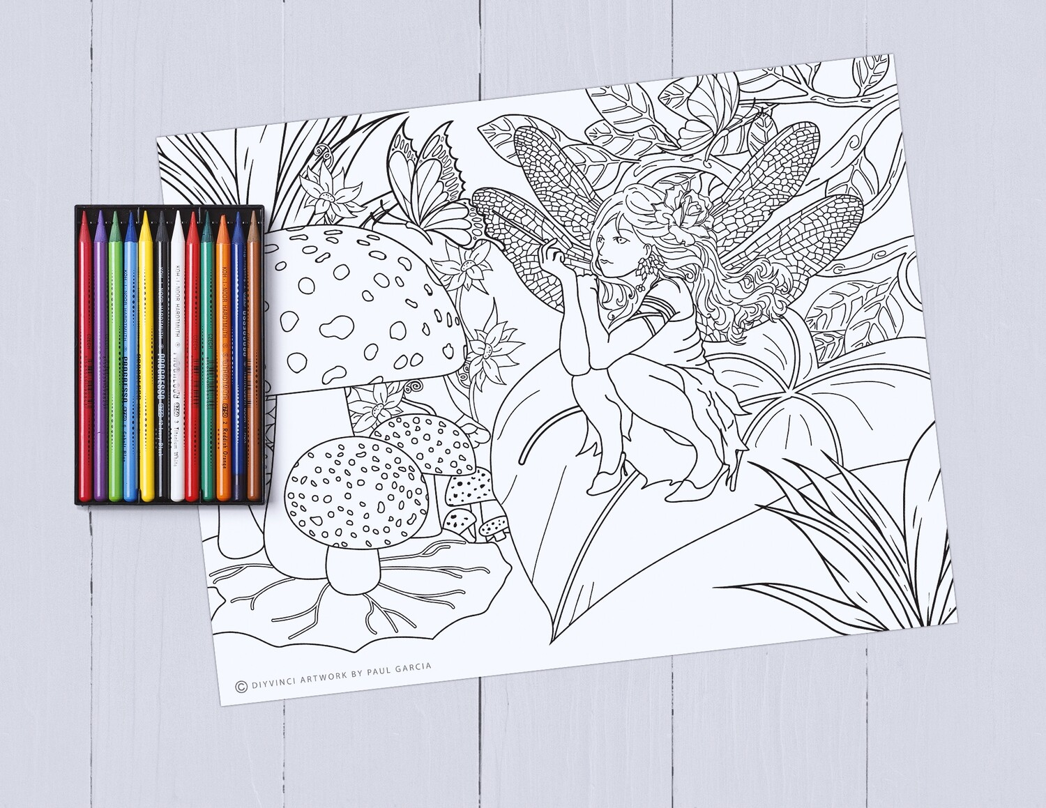Fairy Garden Adult Coloring Printables