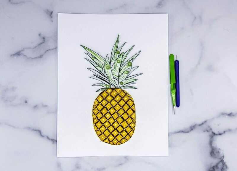 Pineapple Quilling Pattern